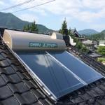 太陽熱温水器(ソーラー) 設置いたしました